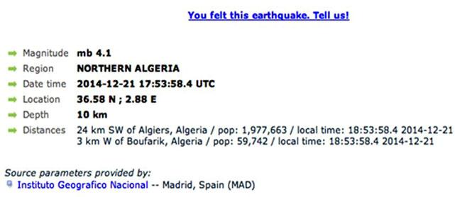 Blida - Boufarik - seisme
