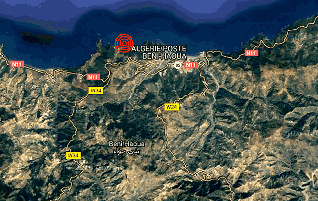 seisme à Beni-Haoua (Chlef)